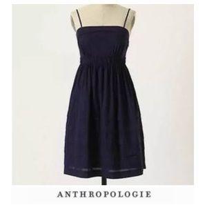 Anthropologie Maeve Strapless Navy Dress